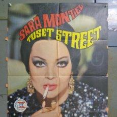 Cine: AAU32 TUSET STREET SARA MONTIEL POSTER ORIGINAL 70X100 ESTRENO. Lote 247314155