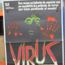 Cine: CARTEL ORIGINAL DE EPOCA - VIRUS - JOHN SAXON - RAMIRO OLIVEROS - 100 X70. Lote 247486150