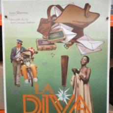 Cine: CARTEL ORIGINAL DE EPOCA - LA DIVA - JEAN-JACQUES BEINEIX - JEAN VAN HAMME- 100 X70. Lote 247488290