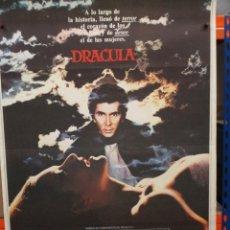 Cine: CARTEL ORIGINAL DE EPOCA - DRACULA - FRANK LANGELLA - LAURENCE OLIVIER 100 X 70. Lote 247489805