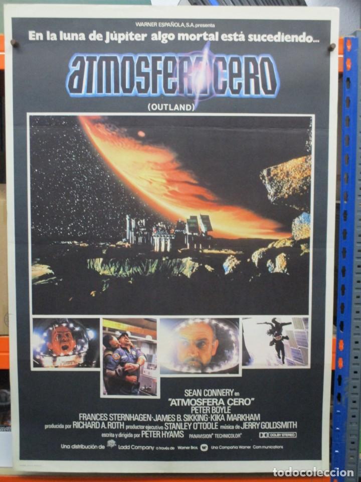 CARTEL ORIGINAL DE EPOCA - ATMOSFERA CERO - OUTLAND - SEAN CONNERY - 100 X 70 (Cine - Posters y Carteles - Ciencia Ficción)