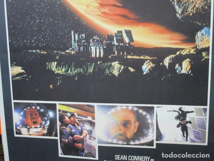 Cine: CARTEL ORIGINAL DE EPOCA - ATMOSFERA CERO - OUTLAND - SEAN CONNERY - 100 X 70 - Foto 2 - 247493540
