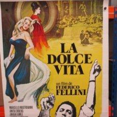 Cine: CARTEL ORIGINAL DE EPOCA - LA DOLCE VITA - FEDERICO FELLINI - 100 X 70. Lote 247496180