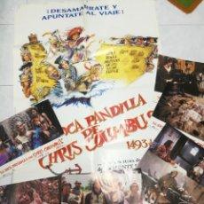 Cine: LA LOCA PANDILLA DE CHRIS COLUMBUS (1992) CARTEL Y 12 LÁMINAS FOTOGRAMAS PELÍCULA. Lote 247574300