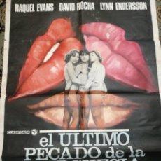 Cine: CARTEL CINE. EL ÚLTIMO PECADO DE LA BURGUESÍA. 1978. Lote 247580115