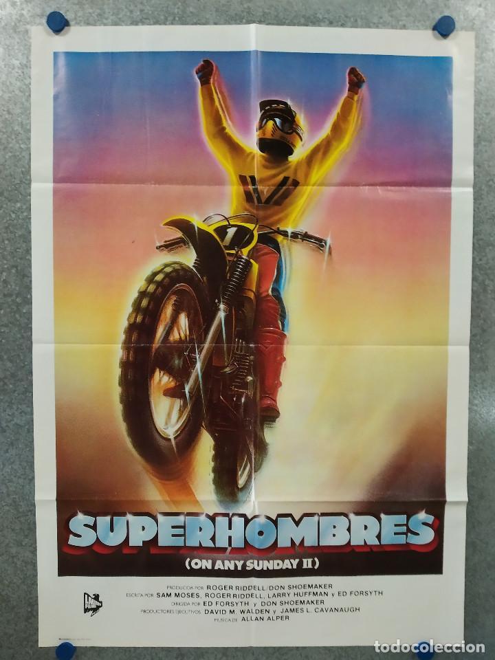 SUPERHOMBRES. ED FORSYTH. MOTOS. AÑO 1983. POSTER ORIGINAL (Cine - Posters y Carteles - Deportes)