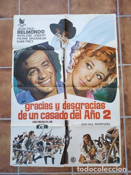 Cine: AAU80 JEAN PAUL BELMONDO COLECCION 17 POSTERS ORIGINALES ESPAÑOLES 70X100 - Foto 9 - 248103395