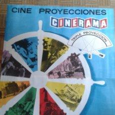Cine: AVENTURA EN EL ATLÁNTICO. CINERAMA. CINE PROYECCIONES. CARTEL DE 2 HOJAS. 100X140CM.. Lote 248137925