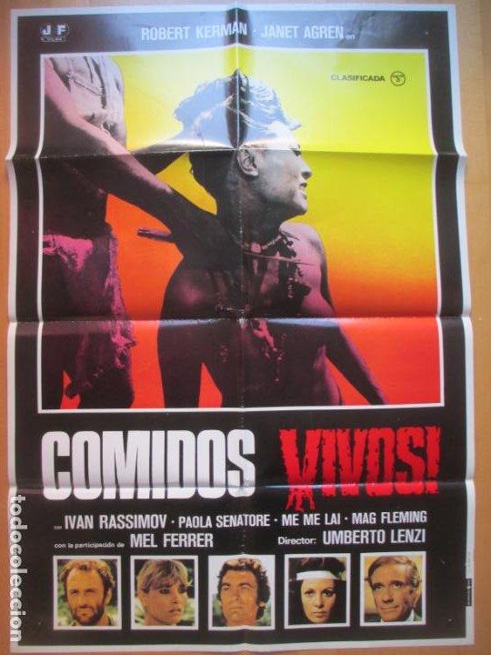 Cine: CARTEL + 11 FOTOCROMOS COMIDOS VIVOS ROBERT KERMAN JANET AGREN 1980 CCF235 - Foto 2 - 248226025