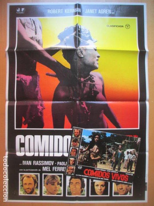 CARTEL + 11 FOTOCROMOS COMIDOS VIVOS ROBERT KERMAN JANET AGREN 1980 CCF235 (Cine - Posters y Carteles - Terror)