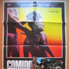Cine: CARTEL + 11 FOTOCROMOS COMIDOS VIVOS ROBERT KERMAN JANET AGREN 1980 CCF235. Lote 248226025
