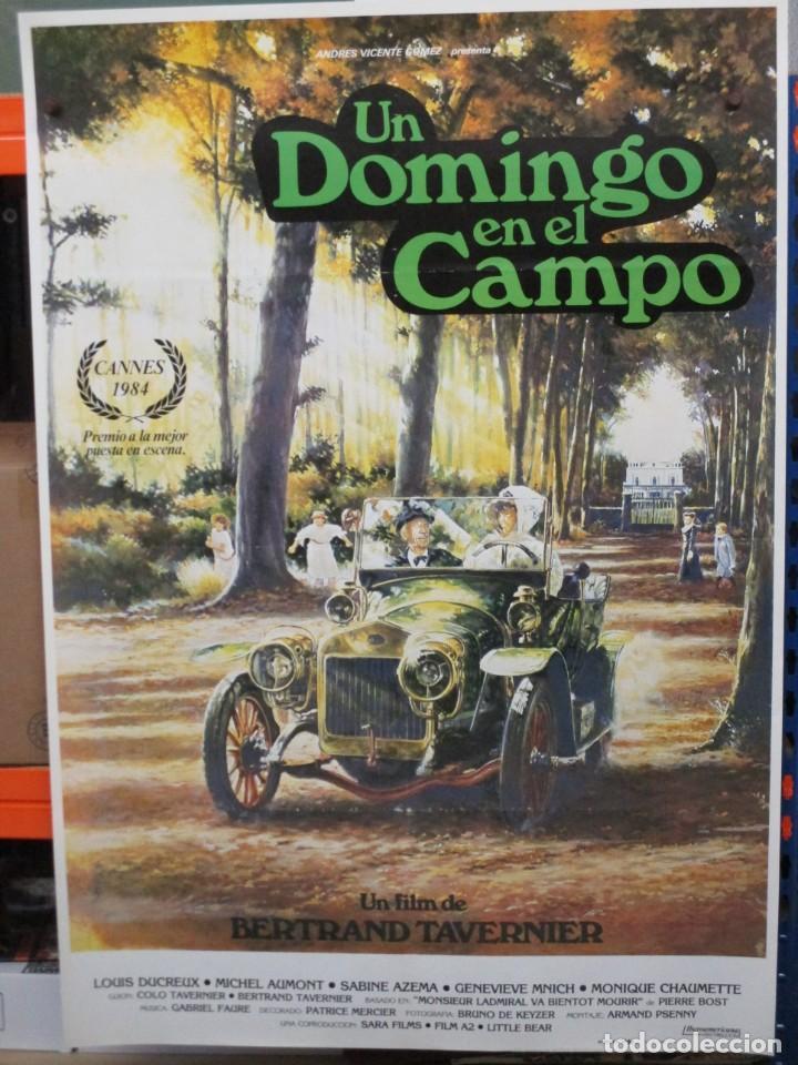 CARTEL ORIGINAL DE EPOCA - UN DOMINGO EN EL CAMPO - 100 X 70 (Cine - Posters y Carteles - Comedia)