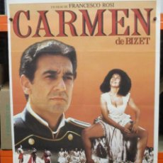 Cine: CARTEL ORIGINAL DE EPOCA - CARMEN DE BIZET - PLACIDO DOMINGO - 100 X 70. Lote 248260790