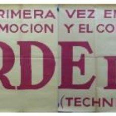 Cine: TARDE DE TOROS, CARTEL GRANDE DE 4 PIEZAS - AÑO 1956 - 348X64 CM.. Lote 248262675