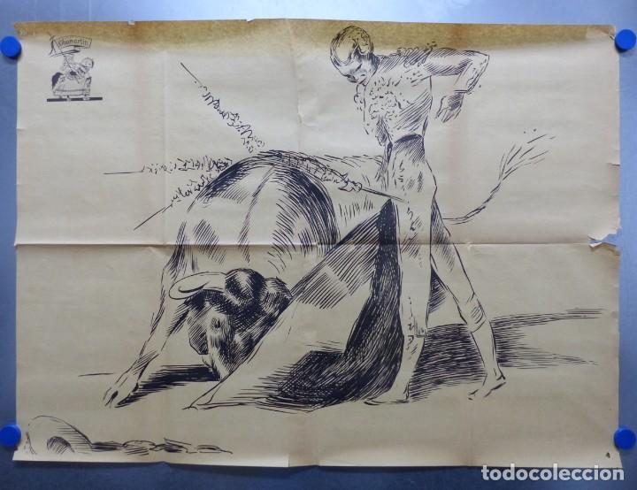 Cine: TARDE DE TOROS, CARTEL GRANDE DE 4 PIEZAS - AÑO 1956 - 348x64 cm. - Foto 2 - 248262675