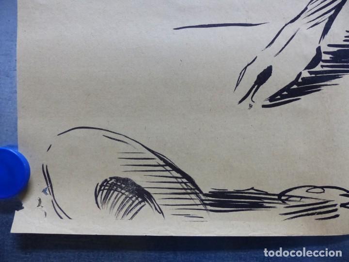 Cine: TARDE DE TOROS, CARTEL GRANDE DE 4 PIEZAS - AÑO 1956 - 348x64 cm. - Foto 6 - 248262675