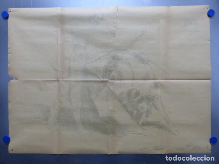 Cine: TARDE DE TOROS, CARTEL GRANDE DE 4 PIEZAS - AÑO 1956 - 348x64 cm. - Foto 8 - 248262675