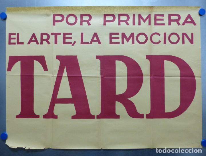 Cine: TARDE DE TOROS, CARTEL GRANDE DE 4 PIEZAS - AÑO 1956 - 348x64 cm. - Foto 9 - 248262675