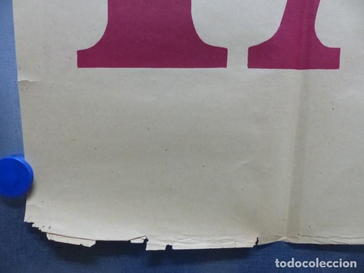 Cine: TARDE DE TOROS, CARTEL GRANDE DE 4 PIEZAS - AÑO 1956 - 348x64 cm. - Foto 10 - 248262675