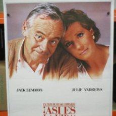 Cine: CARTEL ORIGINAL DE EPOCA - ASI ES LA VIDA - JACK LEMMON, JULIE ANDREWS - 100 X 70. Lote 248263185