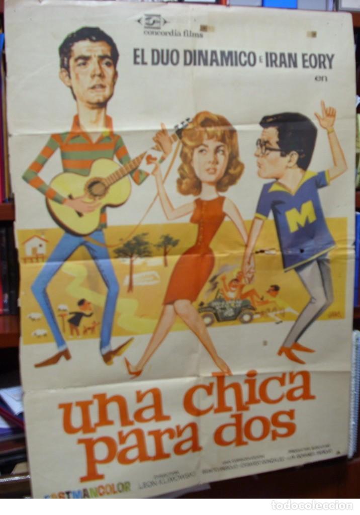 UNA CHICA PARA DOS 1966 ORIGINAL DUO DINAMICO- IMPORTANTE LEER DESCRIPCION VER FOTOS (Cine - Posters y Carteles - Clasico Español)