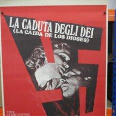 Cine: CARTEL ORIGINAL - LA CAIDA DE LOS DIOSES - LUCHINO VISCONTI - DIRK BOGARDE - 100 X 70. Lote 248432830