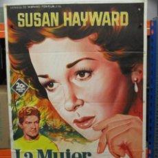 Cine: CARTEL ORIGINAL - LA MUJER OBSESIONADA - SUSAN HAYWARD - SOLIGO - 100 X 70. Lote 248564310