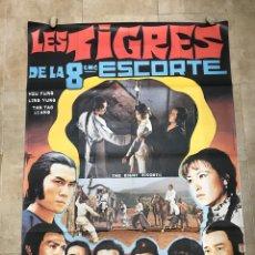 Cine: LES TIGRES DE LA 8EME ESCORTE - CARTEL CINE GRANDE FRANCES 158X117 CM.. Lote 248687620