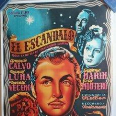 Cine: EL ESCANDALO CARTEL DE CINE ENTELADO. Lote 249241005