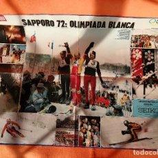 Cine: POSTER LA ACTUALIDAD ESPAÑOLA OLIMPIADA SAPPORO 1972 - 68 X 52 CMS.. Lote 249398725