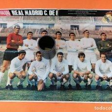Cine: POSTER LA ACTUALIDAD ESPAÑOLA REAL MADRID C.F. 1968-1969 - 67X50 CMS.. Lote 249399395
