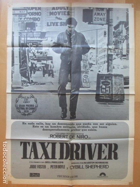CARTEL CINE, TAXI DRIVER, ROBERT DE NIRO, JODIE FOSTER, 1976, C1054 (Cine- Posters y Carteles - Drama)