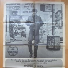 Cine: CARTEL CINE, TAXI DRIVER, ROBERT DE NIRO, JODIE FOSTER, 1976, C1054. Lote 101423195