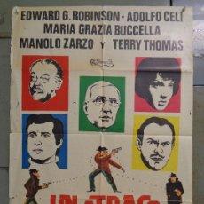 Cine: CDO 9638 UN ATRACO DE IDA Y VUELTA EDWARD G. ROBINSON MANOLO ZARZO POSTER ORIGINAL 70X100 ESTRENO. Lote 251348340