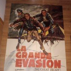 Cine: CARTEL ORIGINAL LA GRANDE EVASIÓN, THE GREAT ESCAPE, STEVE MCQUEEN. Lote 251431045