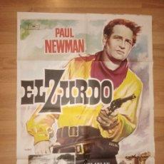 Cine: CARTEL ORIGINAL ESPAÑOL EL ZURDO, PAUL NEWMAN. Lote 251434220