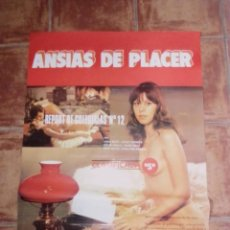 Cine: CARTELERA POSTER PELÍCULA ERÓTICA S - ANSIAS DE PLACER - 1981 - 95 X 65 CM SIN GRANDES DOBLECES. Lote 251602705