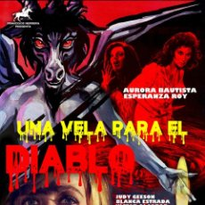 Cine: UNA VELA PARA EL DIABLO CARTEL EN LIENZO INMEJORABLE CALIDAD MEDIDAS 57X40. Lote 251615835