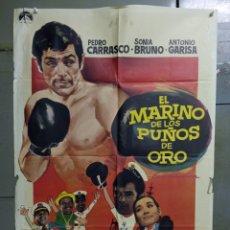 Cine: CDO 9767 EL MARINO DE LOS PUÑOS DE ORO PEDRO CARRASCO SONIA BRUNO BOXEO POSTER ORIG 70X100 ESTRENO. Lote 251962755
