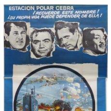 Cine: ESTACION POLAR CEBRA, ROCK HUDSON, ERNEST BORGNINE, JIM BROWN - AÑO 1969 - CARTEL GRANDE 210X100 CM.. Lote 252152910