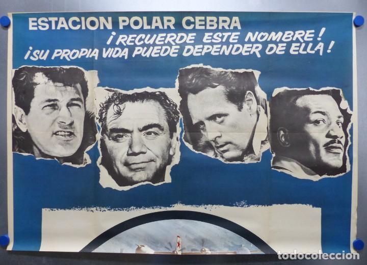 Cine: ESTACION POLAR CEBRA, ROCK HUDSON, ERNEST BORGNINE, JIM BROWN - AÑO 1969 - CARTEL GRANDE 210x100 cm. - Foto 2 - 252152910