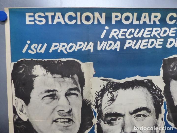 Cine: ESTACION POLAR CEBRA, ROCK HUDSON, ERNEST BORGNINE, JIM BROWN - AÑO 1969 - CARTEL GRANDE 210x100 cm. - Foto 3 - 252152910