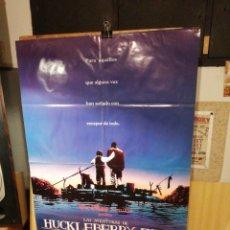 Cine: LA AVENTURAS DE HUCKLEBERRY FINN. WALT DISNEY. 69 X 98 CM. Lote 252265805