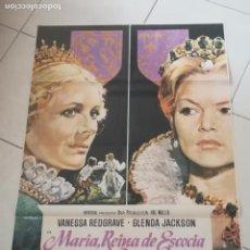 Cinema: POSTER / CARTEL DE CINE ORIGINAL. MARIA, REINA DE ESCOCIA. VANESSA REDGRAVE. 100 X 70 CM. Lote 252326805