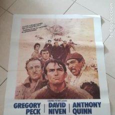 Cine: POSTER / CARTEL DE CINE ORIGINAL. LOS CAÑONES DE NAVARONE. GREGORY PECK, ANTHONY QUEEN. 100 X 70 CM. Lote 252327675