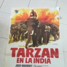 Cinema: POSTER / CARTEL DE CINE ORIGINAL. TARZAN EN LA INDIA. JOCK MAHONEY. 100 X 70 CM. Lote 252330050