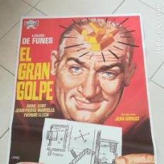 Cine: POSTER / CARTEL DE CINE ORIGINAL. EL GRAN GOLPE. LOUIS DE FUNES. 100 X 70 CM. Lote 252330250