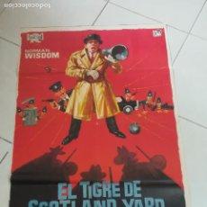 Cinema: POSTER / CARTEL DE CINE ORIGINAL. EL TIGRE DE SCOTLAND YARD. NORMAN WISDOM. 100 X 70 CM. Lote 252330385