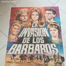 Cine: POSTER / CARTEL DE CINE ORIGINAL. LA INVASION DE LOS BÁRBAROS. 100 X 70 CM. Lote 252330935
