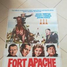 Cinema: POSTER / CARTEL DE CINE ORIGINAL. FORT APACHE. JOHN WYNE. HENRY FONDA. JOHN FORD. 100 X 70 CM. Lote 252331095